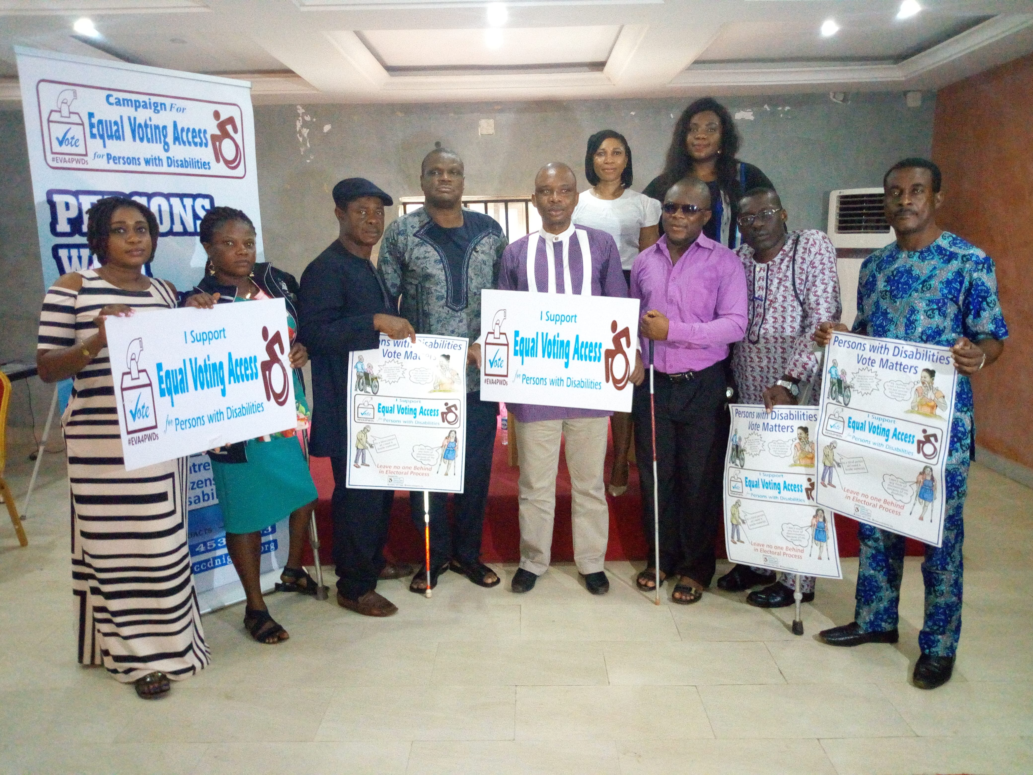 ANAMBRA GUBER ELECTION: CCD LAUNCHES A CAMPAIGN FOR EQUAL VOTING ACCESS FOR PERSONS WITH DISABILITIES AT, AWKA.