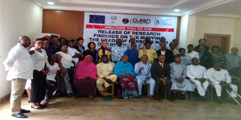 Public presentation of findings on Mapping the needs of PWDs