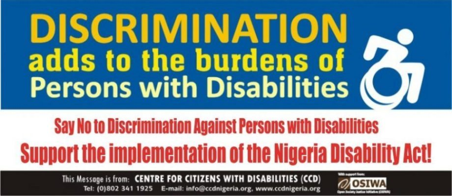 Discrimination adds to PWDs burdens