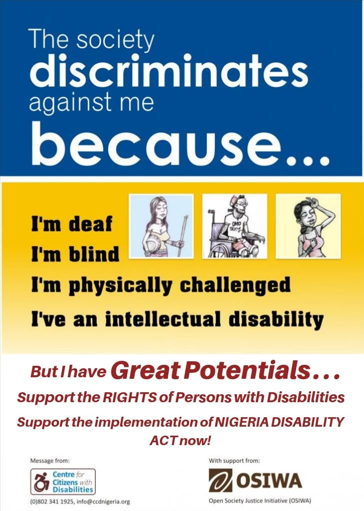 Support the implementation of the Disability Act