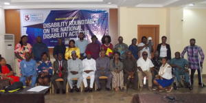 Group picture: Roundtable on the implementation of the Nigeria Disability Act 2018