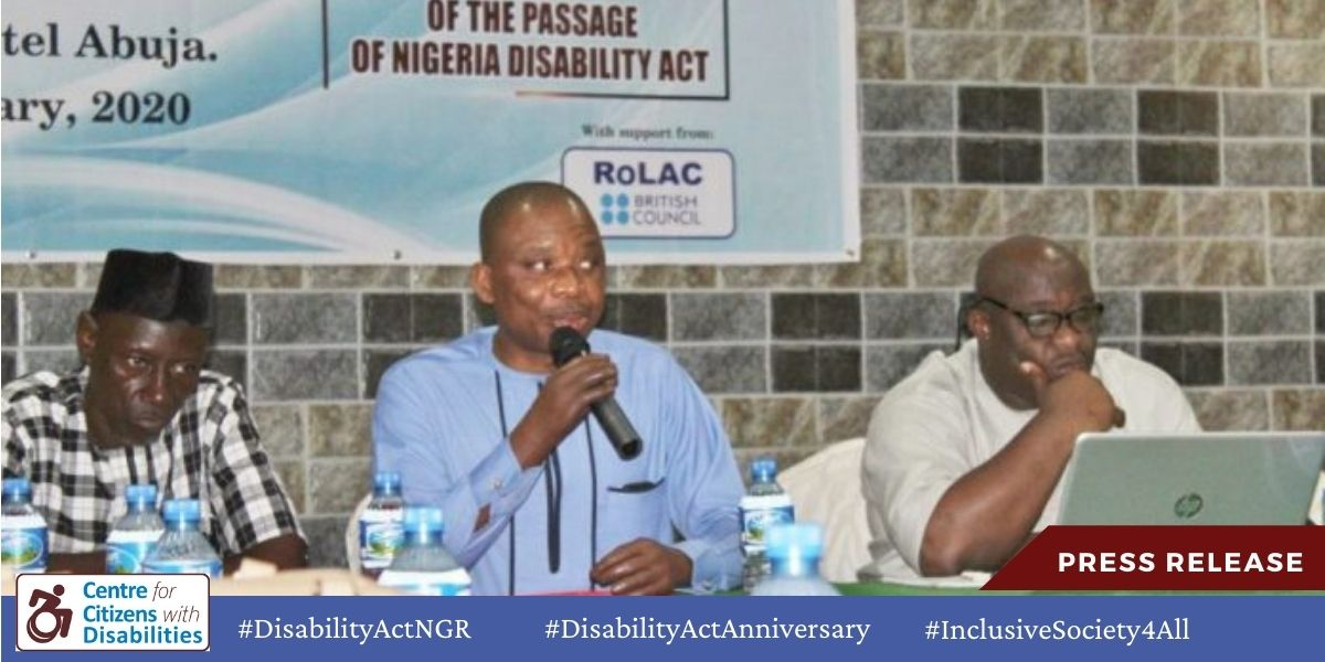 CCD Commemorates 2nd Anniversary of the National Disability Act
