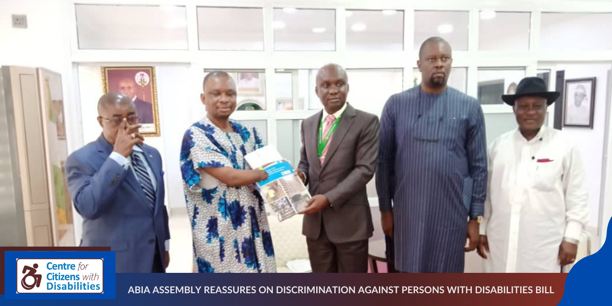 ABIA ASSEMBLY REASSURES ON DISCRIMINATION AGAINST PERSONS WITH DISABILITIES BILL