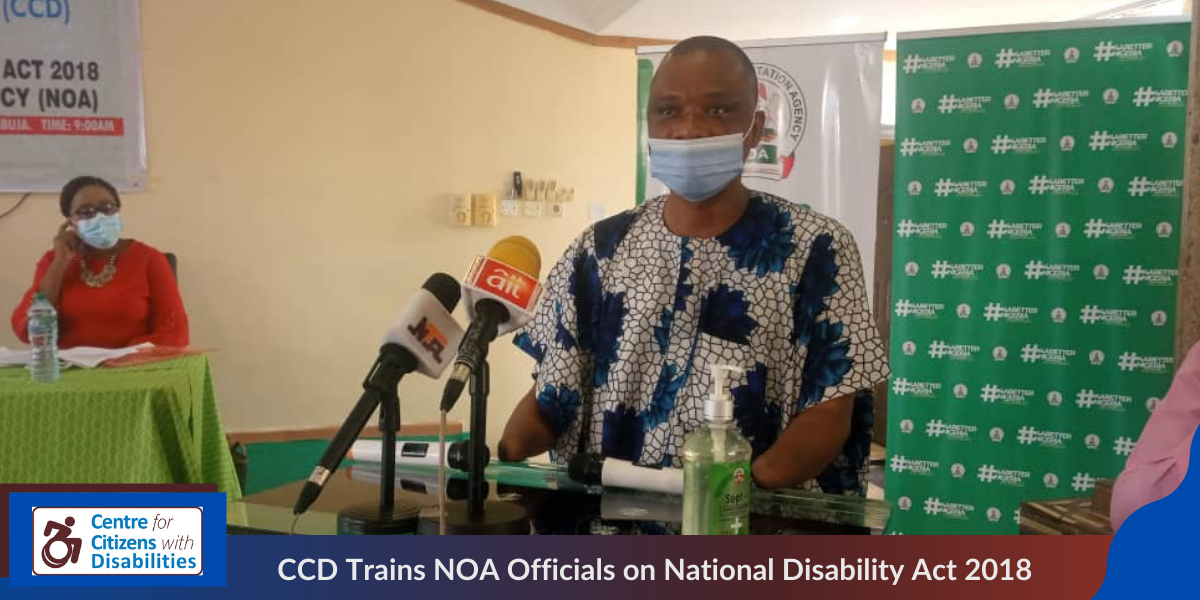 CCD Trains NOA Officials on National Disability Act 2018